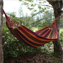 Authentic outdoor hammock swing hammock for two couples the thickened widened the canvas color stripes hammock special