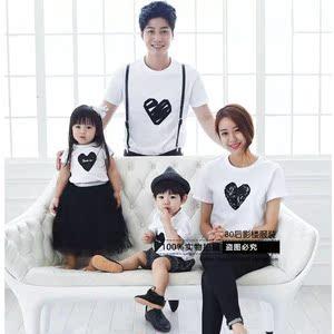 展会新款韩版儿童摄影服装批发影楼亲子装全家福一家四口写真拍照摄影服装