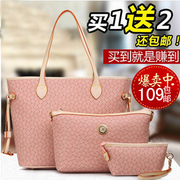 2013 new winter handbags female three-piece picture-portable shoulder bag Messenger bag ladies bag bag influx of European and American