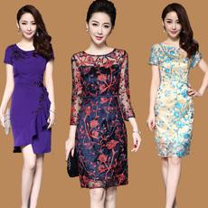 Платье Ципао 2017 Новый весной и