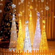Iron lighting Christmas tree 1.8 meters set meal hotel window display layout 1.5 Christmas decorations