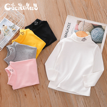 Fairy Doll boy's and girl's high neck bottoming shirt in autumn and winter baby long sleeve T-shirt in autumn children's top