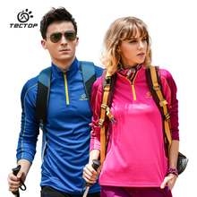 Tectop explore fast dry T-shirts, long sleeves, men, women, autumn, winter, fast drying, outdoor ventilation, running, long T-shirts.