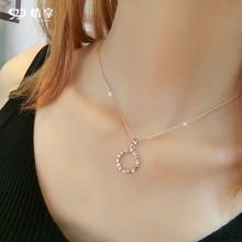 Enjoy the pentagonal star ring pendant net red necklace women's clavicle chain women's necklace fashion women 2018 NEW