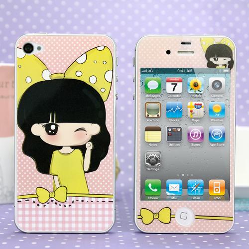 苹果配件 iphone4 4S 手机保护贴膜 4D贴膜 立体卡通贴膜 4代贴膜