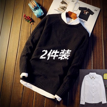 Round neck solid color Pullover Korean sweater in autumn and winter