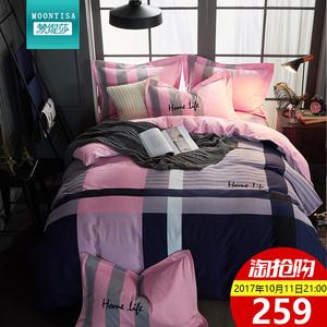 磨毛四件套全棉纯棉加厚被套床单4件套双人1.8m床罩床裙床上用品Q四件套