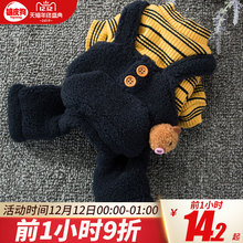 Little Teddy's dog's clothes, winter's thickened cat, four feet, autumn and winter's clothes, pet, small dog, bear, Bomei, winter