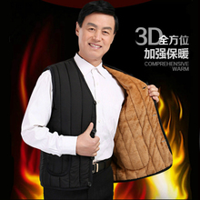Middle aged and old people's cotton padded jacket, plush and thickened cotton padded jacket in autumn and winter