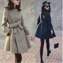 European Station 2008 Autumn and Winter New Korean Style Cashmere Fabric Overcoat Woman Mid-length Thicker