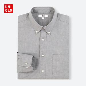 男装 优质长绒棉衬衫(长袖) 400657 优衣库UNIQLO男士长袖