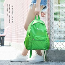 Men's bag and women's bag summer sky blue large style fresh various youth capacity ultra light waterproof Travel Backpack Korean