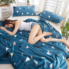 Winter flannel blanket bed sheet single piece suede coral double side Plush milk flannel quilt single