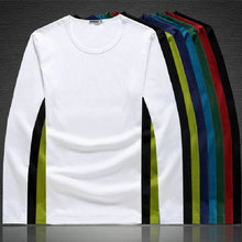 Pure cotton round neck white solid color all-around fit bottoming shirt
