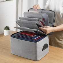 Multi layer family baby certificate storage bag storage document bag household registration box sorting box certificate bag household use