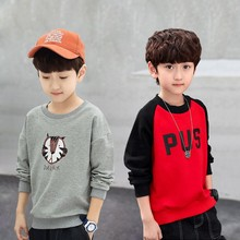Children's long sleeve T-shirt 2019 spring and autumn children's bottoming shirt, big children's pullover, boy's top trend