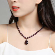Natural Amethyst Necklace Jewelry Fashion Lady pendant clavicle to girlfriend Valentine's birthday gift