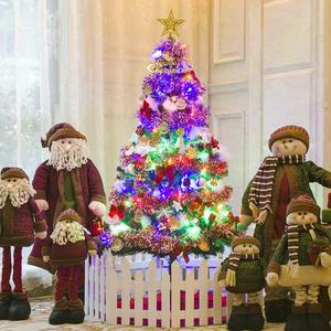 劲野 圣诞节装饰品 1.5米圣诞树豪华套餐150CM发光彩灯加密圣诞树圣诞树装饰