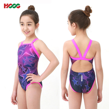 HOOG children swimsuit professional triangulation training competition, student girl swimsuit, Korean imports