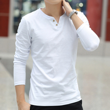 Cotton white trend short sleeve bottoming shirt