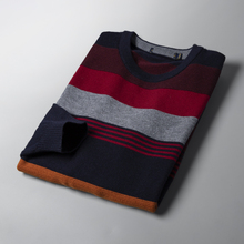 Autumn and winter welfare foreign trade factory tail single stripe leisure wool sweater