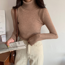 New Korean knitwear with high collar in autumn and winter