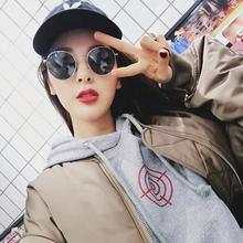 New sunglasses, Korean version, Chao Fu, old Harbin style, small face, round face street, students' simple and classical personalities.