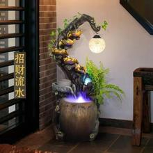 Creative Chinese water fountain office sitting room humidifier lucky feng shui and home decoration round fish pond furnishing articles