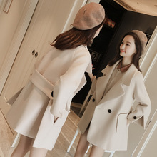 Autumn and winter women's cloth Lapel long coat
