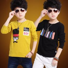 Boys'Long Sleeve T-shirt for Children's Wear New Autumn Dress Bottom Shirt for Children in Spring and Autumn Period