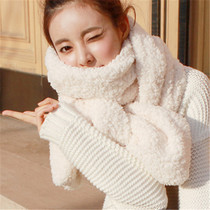 South Korean students thick long hair female Korean warm in autumn and winter white faux cashmere scarf cashmere winter scarf