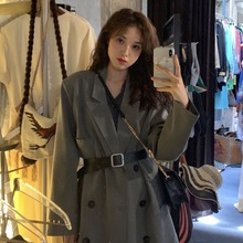 Suit retro early autumn loose show thin suit