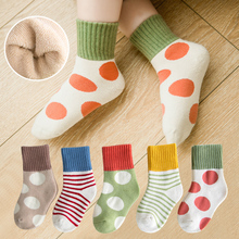 Children's socks, pure cotton, thickened in autumn and winter, baby's middle tube, boy's and girl's socks, thin in spring and Autumn