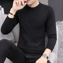 New round neck solid color sweater in autumn and winter
