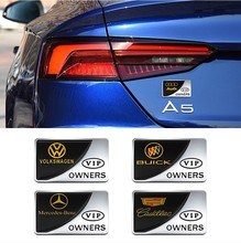 Mercedes Benz, BMW, Volkswagen, Buick, side logo, national flag, car name, tail logo, exterior decoration, VIP body metal sticker