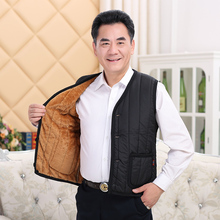 Men's middle-aged and old men's vest, plush and thick waistcoat, warm waistcoat, Dad's winter clothes, Grandpa's winter clothes, large men's clothes