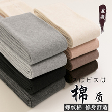 Autumn and winter plush and thickened grey outer wear and inner wear pants