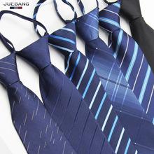 Zipper necktie, business, work, occupation, Korean Edition, easy to pull students, wedding groom, lazy man, men's tie.