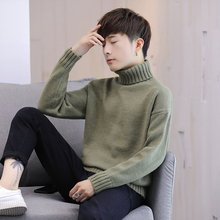 High neck autumn winter Korean thickened solid color sweater