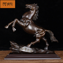 Abraham's pure bronze horse ornament is a success, handicraft office decoration, household decoration and business gifts.