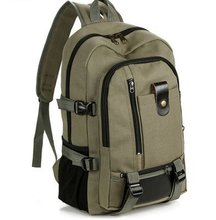 Wear-resistant canvas, large capacity shoulder bags, travel backpacks, fashionable backpacks for male and female middle school students