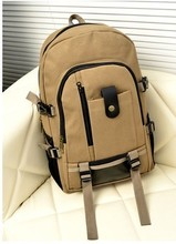 Backpack men's leisure simple canvas Travel Backpack college students Korean fashion trend high school students' schoolbag