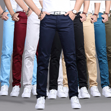 Summer straight fit business black thin casual pants