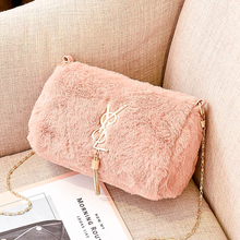 Winter fluffy bag for women 2019 new fashion versatile small fragrance lovely fluffy chain messenger single shoulder