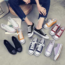 Ins canvas shoes female student 2019 autumn shoes new Korean version versatile ulzzang autumn small white board shoes fashion shoes