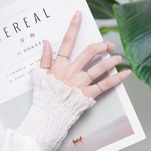 Pure silver ring women's joint tail ring extremely fine style simple and fashionable hand washing without taking off the little finger personality element ring ring man