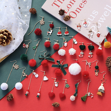 Autumn, winter, Christmas Earrings accessories DIY handmade high-end complete set of earrings, self-made wool ball material bag