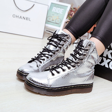 New autumn 2019 black thick bottom high top casual shoes Korean shoes