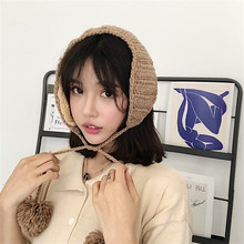 Japanese ins retro lace, wool ear muff, autumn and winter, lovely Korean version, ear protectors, knitted warm ears, warm ears.