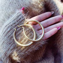 Fashion dumb gold trend ring earrings earrings earrings South Korea Europe and America net red temperament personality exaggeration Big Circle Earrings female
